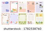 childish cute agenda set ... | Shutterstock .eps vector #1782538760