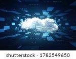 2d illustration abstract cloud... | Shutterstock . vector #1782549650