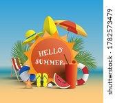 hello summer vector banner...   Shutterstock .eps vector #1782573479