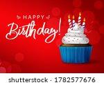 birthday cupcake vector... | Shutterstock .eps vector #1782577676