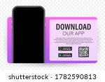 download page of the mobile app....   Shutterstock .eps vector #1782590813