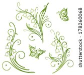 colorful spring time decoration ... | Shutterstock .eps vector #178260068