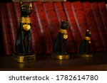Cat Figurines Sitting On A...