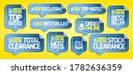 order online stickers set   top ...   Shutterstock .eps vector #1782636359