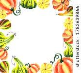 watercolor hand painted autumn... | Shutterstock . vector #1782639866