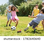 Cheerful Children Are Jogning...