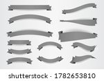 set of white paper banner flat... | Shutterstock .eps vector #1782653810