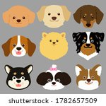 set of flat colored cute and...   Shutterstock .eps vector #1782657509