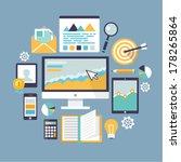 office object. flat vector...   Shutterstock .eps vector #178265864