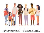 group of multicultural students ... | Shutterstock .eps vector #1782666869