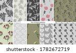 set of seamless natural... | Shutterstock .eps vector #1782672719