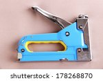 construction stapler on fabric... | Shutterstock . vector #178268870