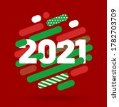 happy new year 2021 and merry... | Shutterstock .eps vector #1782703709