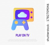 play on tv gradient icon.... | Shutterstock .eps vector #1782709046