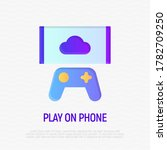 video gaming  play on... | Shutterstock .eps vector #1782709250