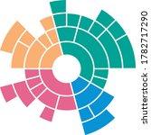 sunburst chart control. vector...   Shutterstock .eps vector #1782717290