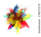 freeze motion of colored dust... | Shutterstock . vector #178272173