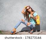 Stylish Young Girl Posing...