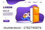businessman running to escape...   Shutterstock .eps vector #1782740876