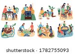 work in the office and at home   Shutterstock .eps vector #1782755093