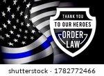blue line flag. police usa flag.... | Shutterstock .eps vector #1782772466