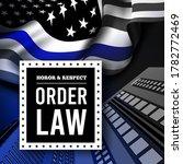 blue line flag. police usa flag.... | Shutterstock .eps vector #1782772469