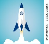 rocket launch concept. flat... | Shutterstock .eps vector #1782798056