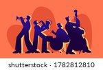 musicians playing jazz...   Shutterstock .eps vector #1782812810