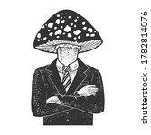 amanita fly agaric toxic... | Shutterstock .eps vector #1782814076