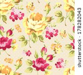 floral seamless pattern with... | Shutterstock .eps vector #178282043