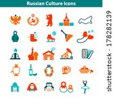 a big russian culture colorful... | Shutterstock .eps vector #178282139