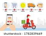 shopping online process....   Shutterstock .eps vector #1782839669