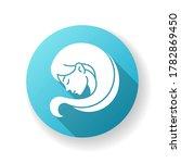 virgo zodiac sign blue flat... | Shutterstock .eps vector #1782869450