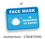 face mask is required to entry... | Shutterstock .eps vector #1782870500