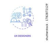 ux designer blue gradient...