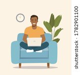 young  afro american man... | Shutterstock .eps vector #1782901100