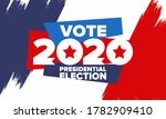 presidential election 2020 in... | Shutterstock .eps vector #1782909410