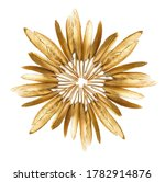 Golden Feather On A White...