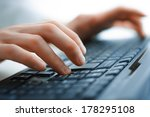 close up of typing female hands ... | Shutterstock . vector #178295108