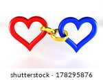rings connect heart   | Shutterstock . vector #178295876