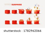 set of open and closed red...   Shutterstock .eps vector #1782962066