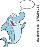 Happy Shark Cartoon Character...