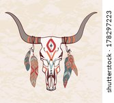 vector illustration of bull... | Shutterstock .eps vector #178297223