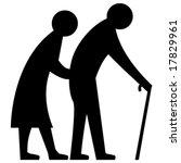 vector elderly couple   Shutterstock .eps vector #17829961