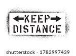 keep distance inscription.... | Shutterstock .eps vector #1782997439