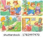 goldilocks and the three bears. ... | Shutterstock . vector #1782997970