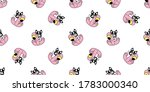 dog seamless pattern french... | Shutterstock .eps vector #1783000340