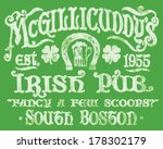 vintage irish pub sign t shirt... | Shutterstock .eps vector #178302179