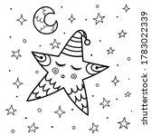 cute sleeping star coloring... | Shutterstock .eps vector #1783022339