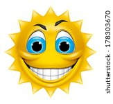 sun character smiling | Shutterstock . vector #178303670